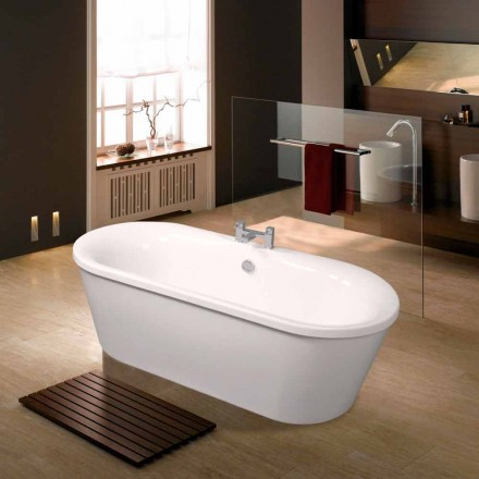 White acrylic freestanding bathtub June 1770x820 mm, modern design