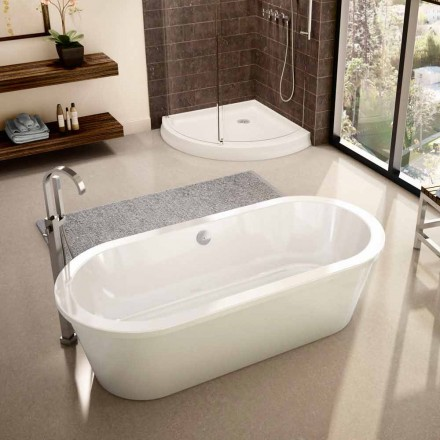 Modern white freestanding bathtub April 1800x830 mm