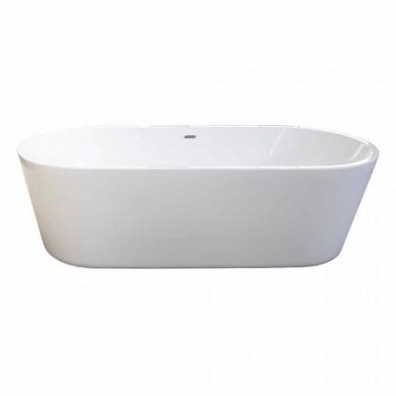 Nicole 2 design white modern freestanding bathtub 1785x840mm