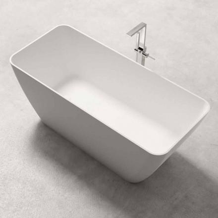 Modern Design Free Standing Bathtub Shiny or Matt White – Face