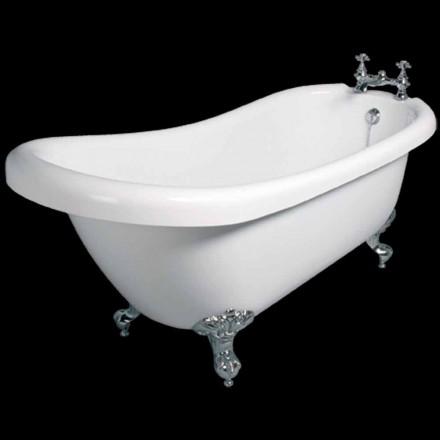 Modern design freestanding bathtub in white acrylic Dawn 1700x750mm