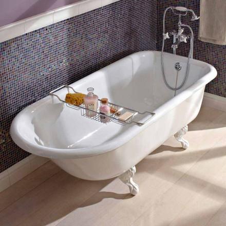Vintage Freestanding Design Bathtub in White Cast Iron, Made in Italy - Marwa