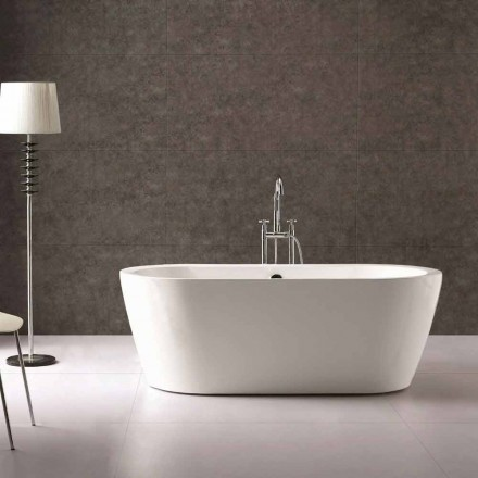 Nicole 1775x805 mm white freestanding design bathtub in acrylic
