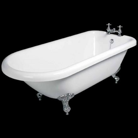 Design freestanding bathtub in white acrylic 1770x795 mm