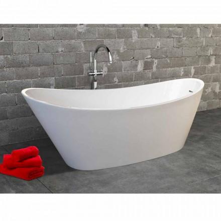 Nataly modern design white acrylic freestanding bathtub, 1700x745mm