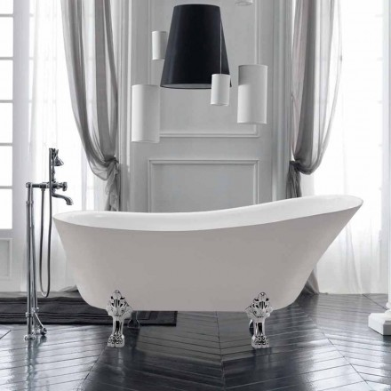 White 1700x720 mm freestanding bathtub in white acrylic