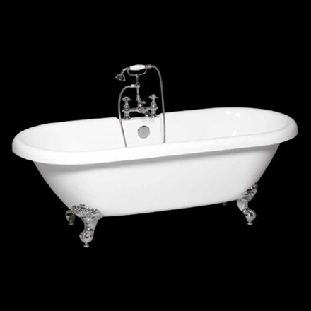 Modern white acrylic freestanding bathtub Sunshine 1774x805 mm