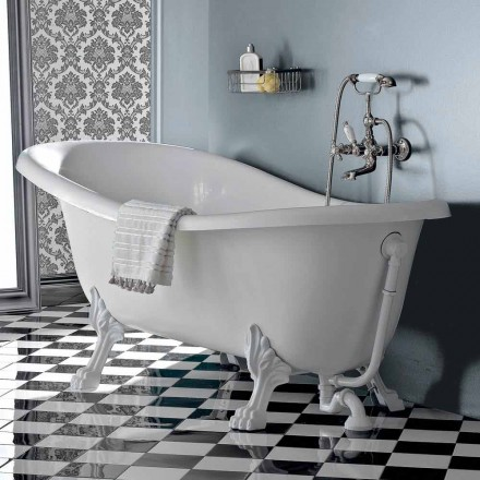 Freestanding Bathtub in Vintage Style Acrylic, Made in Italy - Tabea