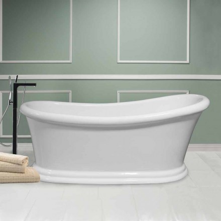 Modern white freestanding bathtub in acrylic Winter 1710x730 mm