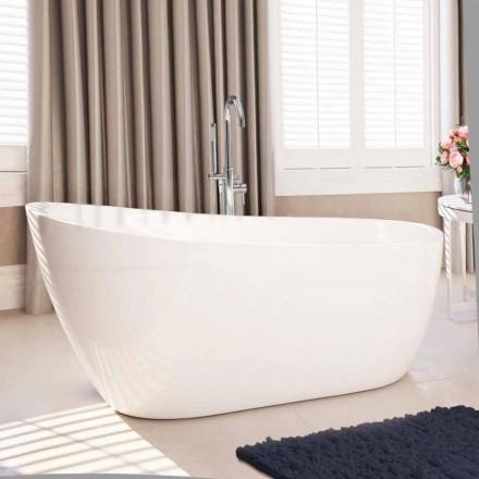 Modern freestanding bathtub in white acrylic 1730x775 mm Abbie