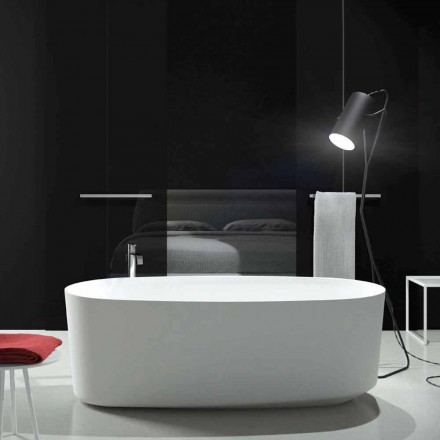 Freestanding monobloc design bathtub produced in Italy, Dongo