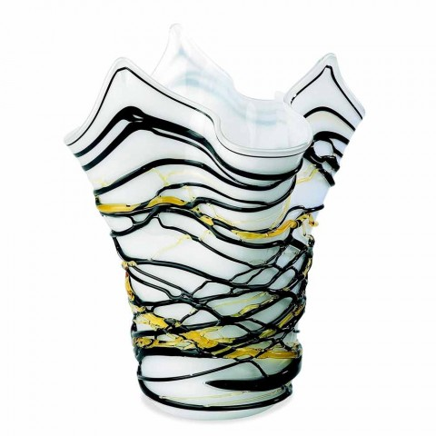 Handkerchief Vase in Murano Glass Colored H 28 cm Made in Italy - Vitale