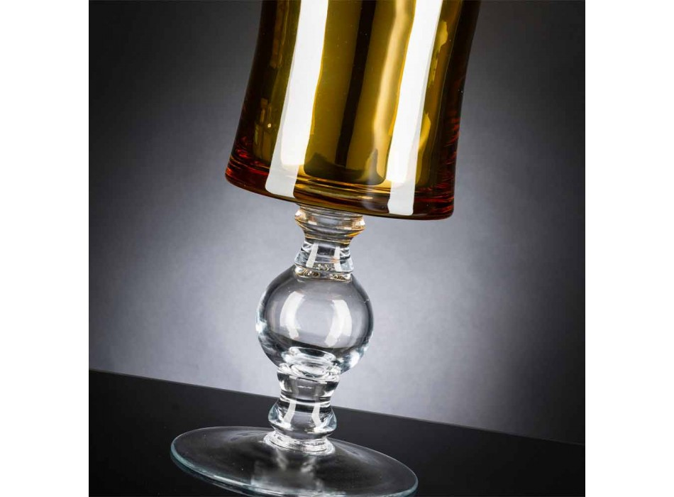 Artisan Vase in White Blown Glass or 24k Gold Made in Italy - Canberra
