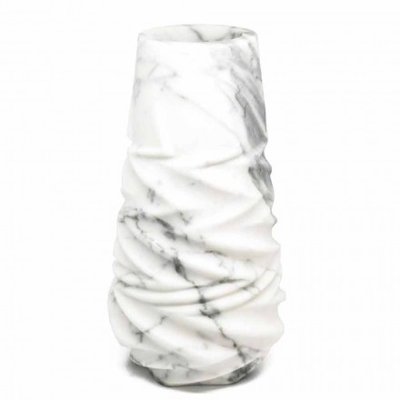 Arabesque Marble Design Decorative Vase Made in Italy - Brock