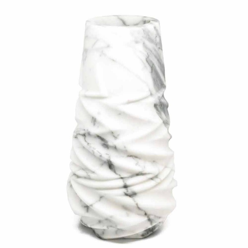Arabesque Marble Design Decorative Vase Made in Italy - Brock