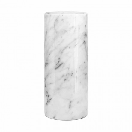 White Carrara Marble Decorative Vase Made in Italy Design - Nevea