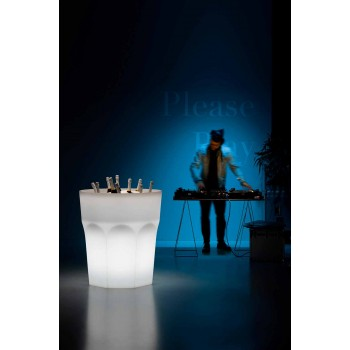Bright Decorative Polyethylene Vase with LED Light Made in Italy - Pucca