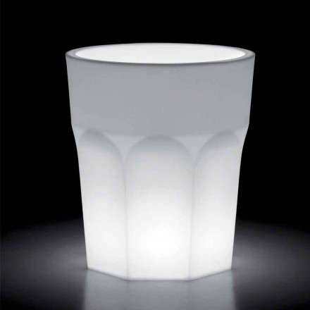 Decorative Luminous Vase in Polyethylene with LED Light Made in Italy - Pucca