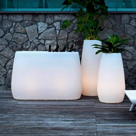 Planter Vase in Luminous Plastic, Design in 3 Sizes, 2 pieces - Pandora by Myyour
