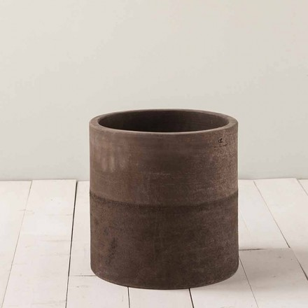 Hand-crafted outdoor vase in clay H 34cm Tirrenia – Toscot