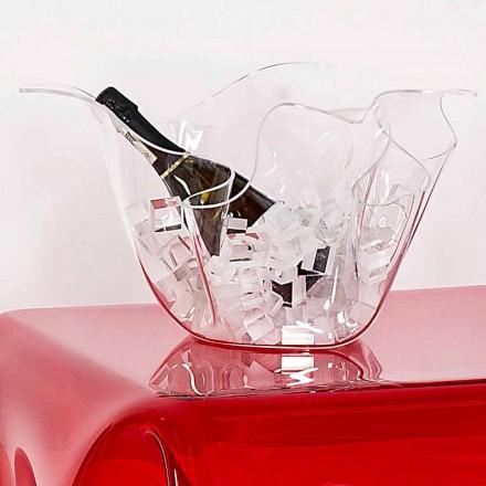 Transparent outdoor/indoor vase, modern design Pina, made in Italy