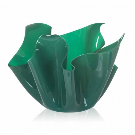 Modern design outdoor / indoor pot Pina, green finish, made in Italy