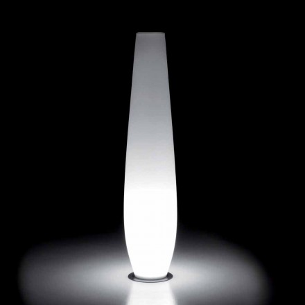 Outdoor Luminous Vase with LED Light in Polyethylene Made in Italy - Nadai