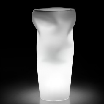 Bright Outdoor Vase in Opaque Polyethylene Made in Italy - Proud