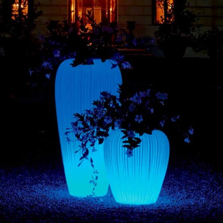 Luminous Vase of Modern Design with RGBW Induction Battery - Skin by Myyour