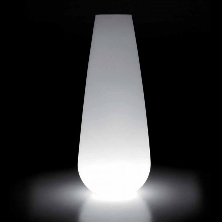 Luminous Vase for Outdoor Design in Polyethylene Made in Italy - Menea