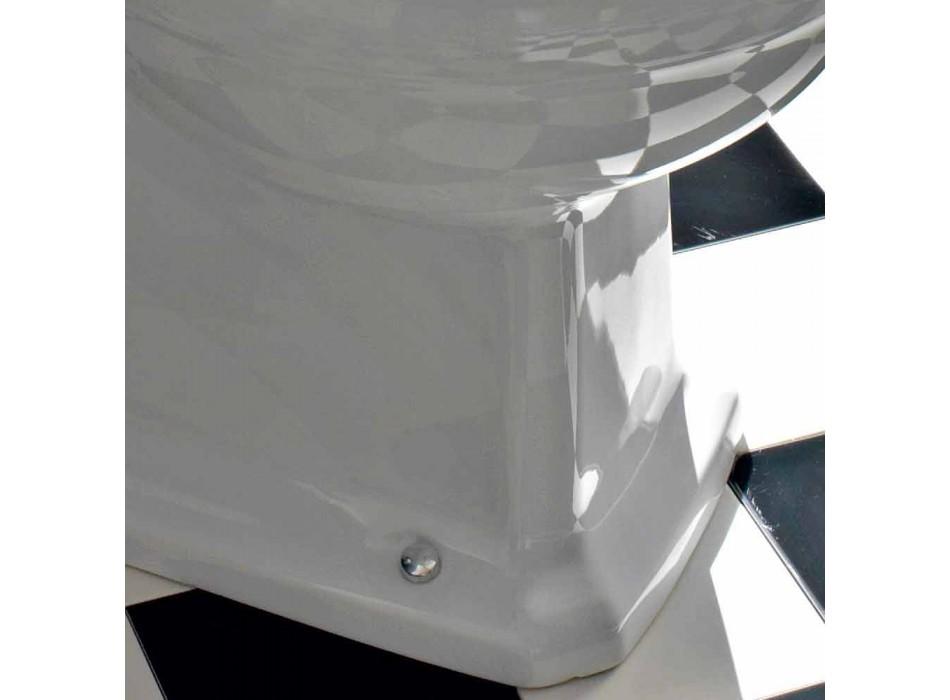Classic Design Monoblock Vase in White Ceramic Made in Italy - Marwa