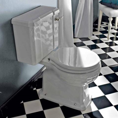Vintage Design Monoblock Vase in White Ceramic Made in Italy - Marwa