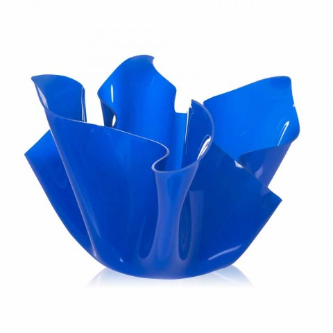 Multipurpose outdoor / interior vessel Pina blue, modern design, made in Italy