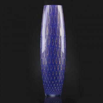 Colored Blown Murano Glass Ornamental Vase Made in Italy - Asper