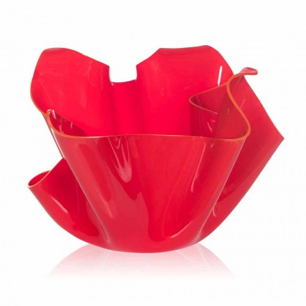 Modern design outdoor / indoor pot Pina, red finish, made in Italy