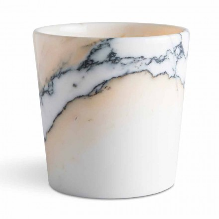 Rounded Vase in Paonazzo Marble Made in Italy, 5 Pieces - Murlino