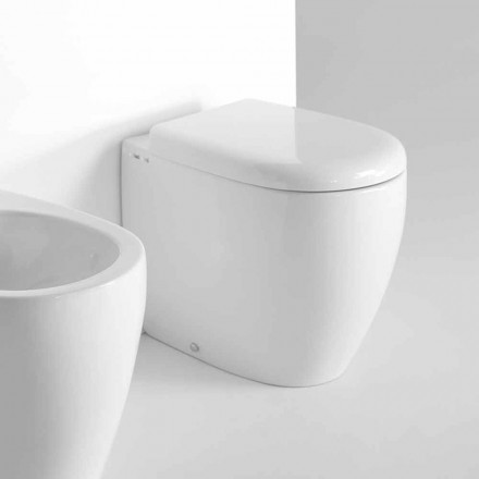 Modern Design Floor Standing WC in Colored Ceramic Made in Italy - Lauretta