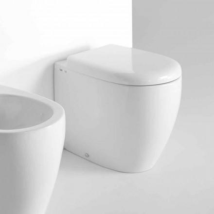 Modern Design Floor Standing WC in Colored Ceramic Made in Italy - Lauretta