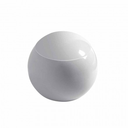Design spherical toilet vase in ceramic Made in Italy, Fanna