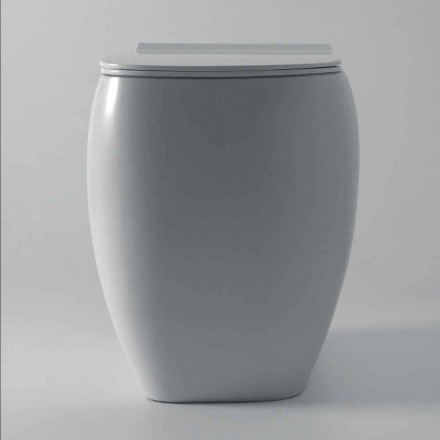 Modern design white ceramic toilet vase Gais, produced in Italy