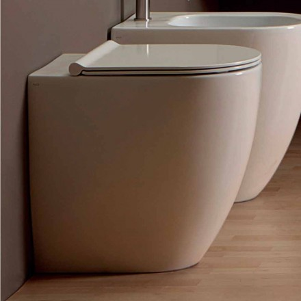 Modern design white ceramic toilet bowl Shine Square H50 Rimless