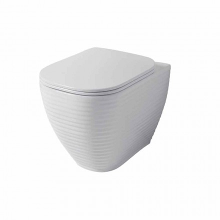 Design toilet vase in white or colored ceramic Trabia