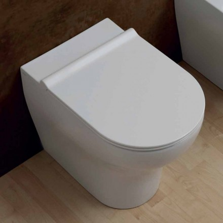 Modern design white 54x35cm ceramic toilet vase made in Italy, Star
