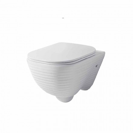 Modern suspended toilet vase in white or colored ceramic Trabia