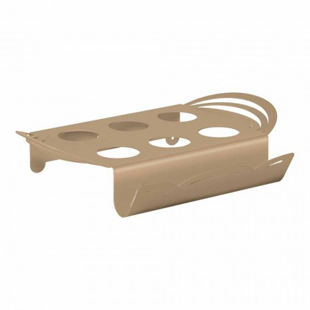 Modern Coffee Tray in Handcrafted Iron, Made in Italy - Futti