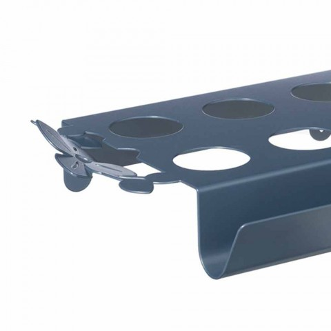 Modern Coffee Tray with Flowers in Blue, White or Mud Iron - Marken