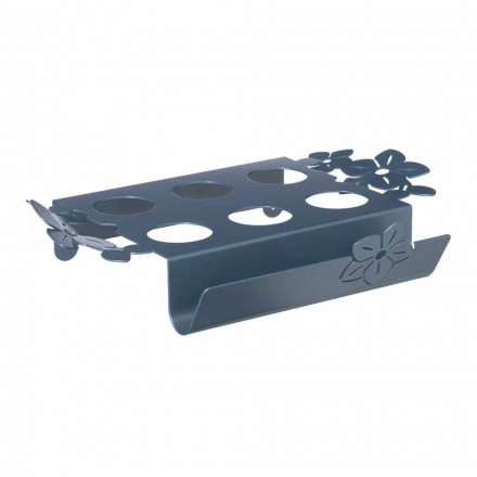 Coffee Tray with Flowers in Modern Handmade Iron Made in Italy - Marken