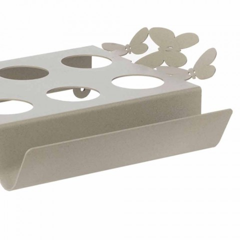 White, Beige or Ivory Iron Design Coffee Tray Made in Italy - Leiden