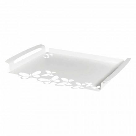 Iron Design Serving Tray, Italian Artisan Production - Leiden