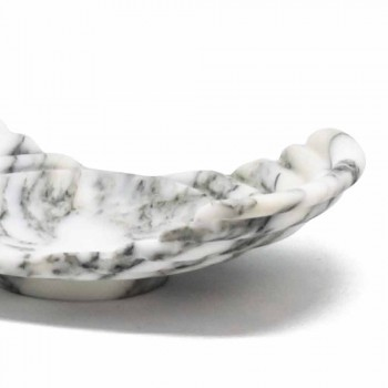 Curved Decorative Tray in Arabescato Marble Made in Italy - Clifton